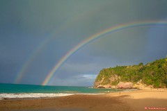 Rainbow (bakariu) Tags: sea cloud mer beach rainbow sable nuage plage guadeloupe arcenciel gwada abigfave aplusphoto bakariu