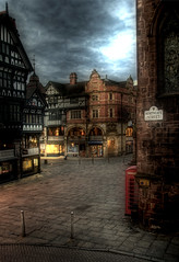 This is Chester.. (jetbluestone) Tags: morning streets lights quiet cross chester hdr northgatestreet aplusphoto