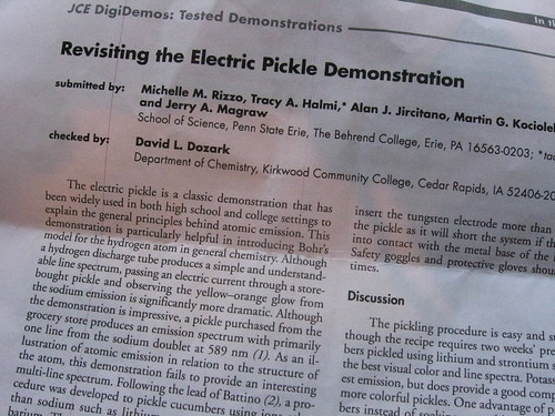 Recent electric pickle literature