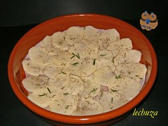 Pollo estofado campesina-base patatas