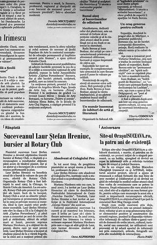 Site-ul OrasulSUCEAVA.ro, la patru ani de existenţă