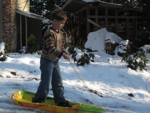 JDBoy sledding in March