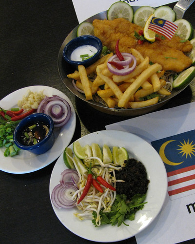 Malaysian-inspired fish and chips