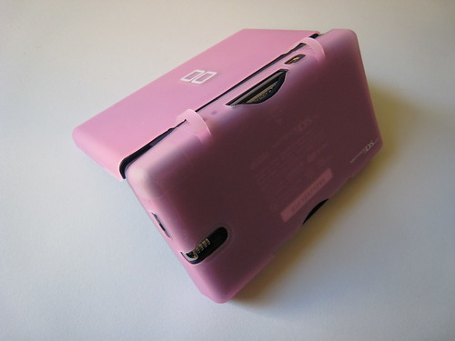 Pink Hori DS Lite Skin - Open Rear