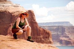 Becky on the rock (Anitab) Tags: lakepowell