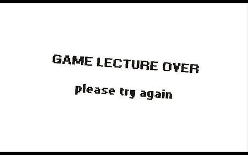 GAME LECTURE OVER