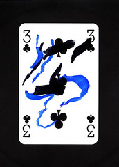 3 of Clubs (dou_ble_you) Tags: 3 clubs playingcard duchampiansnap
