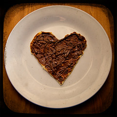 I love nutella on heartshaped pancakes! Day 87/365