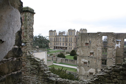 Hardwick Hall viewed from Hardwick Old Hall