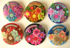 WHOLESALE ORDER - OVER THE RAINBOW FELT BROOCHES (APPLIQUE-designedbyjane) Tags: rainbow pin embroidery brooch felt applique