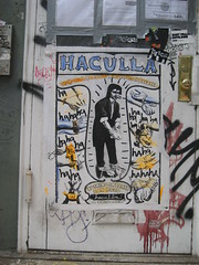 Paste-Up by Haculla (SliceofNYC) Tags: nyc newyorkcity streetart pasteup haculla escape wheatpaste soho gothamist prisoner springstreet houdini handcuff escapeartist princestreet mercerstreet prisonbreaker