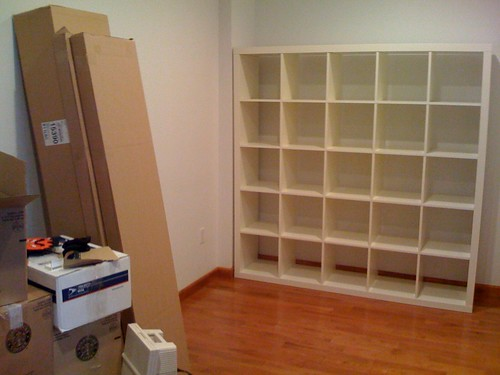 new bookcase day one