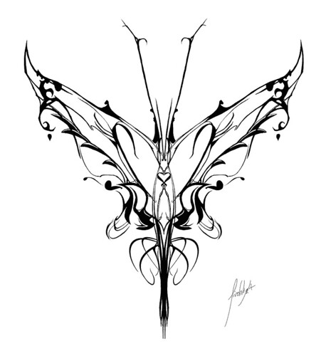 picture of butterfly tattoo. Tribal utterfly tattoo design