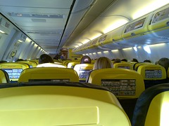 Interior of a Ryanair plane