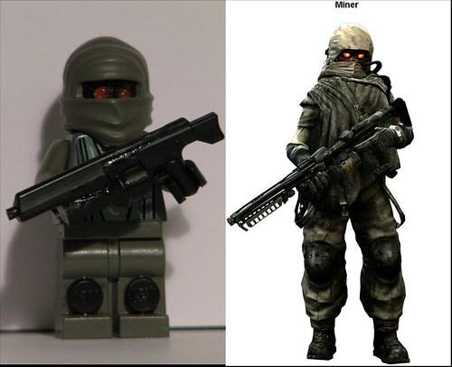 Lego Miner (Killzone) custom minifig