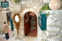 Shops in the walls, ze (France) (Lisa Fagg) Tags: france castle garden french nice mediterranean savoy succulant nicefrance frenchriviera exoticgarden ze zefrance
