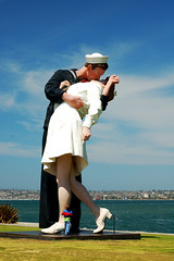 Sailor Kissing Young Woman
