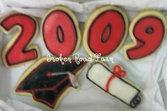 Graduation Cookies (Broken Road Farm) Tags: cookies cookie diploma graduation graduate grad 2009 frosting sugarcookie buttercream graduationcap frostedcookies decoratedcookie graduationcookies