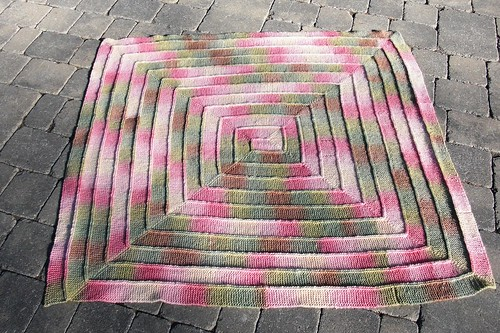 Spring Blanket finished 48 inches x 50 inches-122 x 127cm