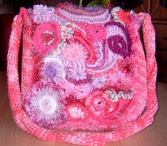 "Freeform Bag ""Pink Denise"" (regulli) Tags: bag freestyle freeform freeformcrochet"