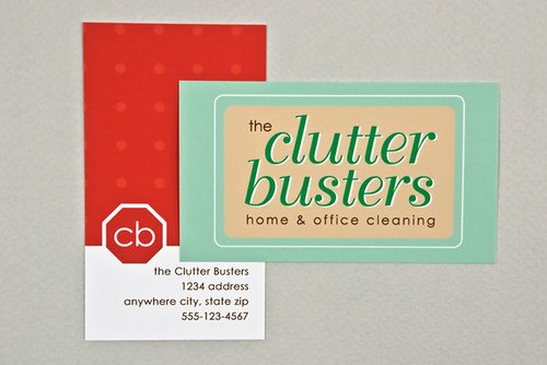 Home and Office Cleaners Business Card