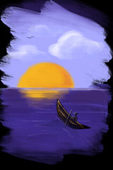 Sunset (noelevz) Tags: digitalpainting ipodtouch