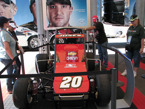 TSR-Jones show car at Team Chevy booth at PIR Midway