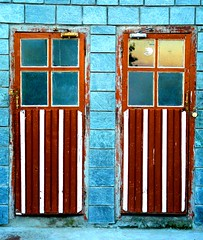 Choices.. (Dolly Sapra Arora) Tags: life old blue brown sun reflection glass hotel wooden doors break weekend stripes veranda choice learn dfc kasauli timbertrail grandmaurice