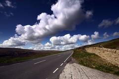 (andrewlee1967) Tags: road sky clouds wall dandelions moors saddleworthmoor canon50d 50d sigma1020mm andrewlee1967 uk gb england britain landscape taraxacumofficinale mywinners andrewlee