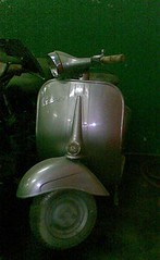 vespa super 1962 warna silver, mesin full restored 1962