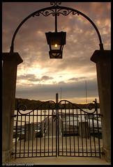 The gate (Justin Smith - Photography) Tags: sunset gate nikond50 jamaicapond brooklinema justinsmith bostonarea nikon1735mmf28 leegndfilters