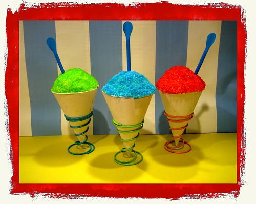 snow cone cupcakes!