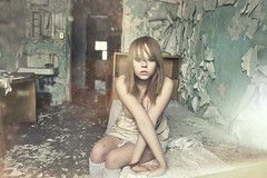 (yyellowbird) Tags: selfportrait chicago abandoned girl hospital lights bedroom peeling paint cari michaelreese