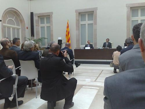 Inauguració pel President del Parlament Ernest Benach