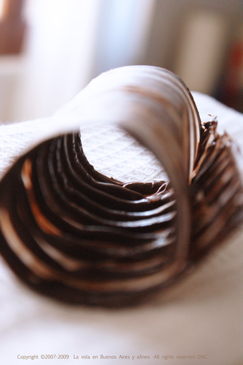 Chocolate curls