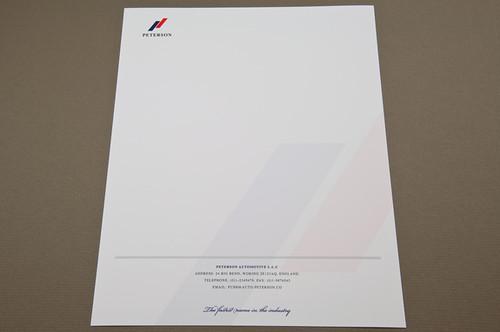 Upscale Automobile Company Letterhead