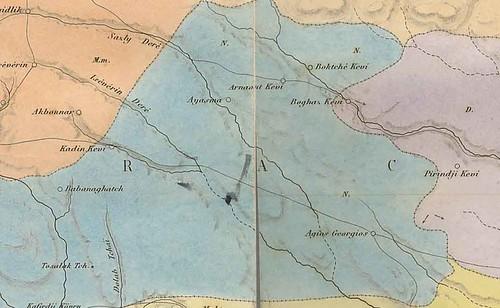 Arnavutköye ait tarihi bir harita