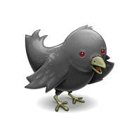 twitter logo vampire goth