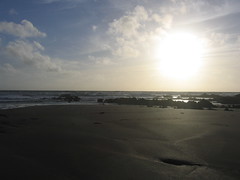 sandy sunset (nojbox87) Tags: sunset sea cloud sun beach sand seascpae