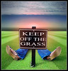 I Won't Keep Off The Grass (Ben Heine) Tags: travel light wild sky sun nature ecology grass sepia clouds season relax landscape photography countryside poem photographie time nikond70 earth geometry lumière details horizon philosophy enjoy harmony memory poet planet terre lawnmower environment spirituality moment conceptual paysage timeless lay carpediem couché sauvage greenvert herbes gazon détente keepofthegrass digitalshot petersquinn benheine tondre hubertlebizay hubzay flickrunited