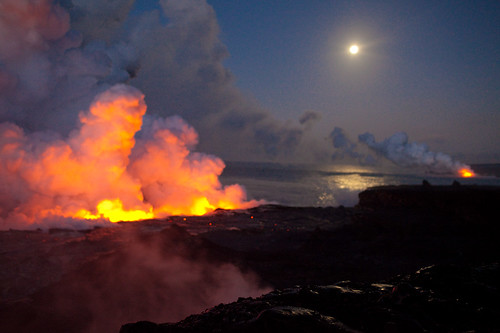 Kīlauea volcano, south shore Big Island hawaii