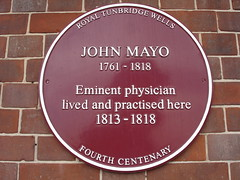 Photo of John Mayo claret plaque