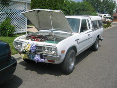 1978 Datsun Pickup EV (mellotrongirl) Tags: white electric king cab ghost ev vehicle 1978 datsun 620 strubhar bulletside gremco