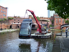 Ford Mondeo in Coronation Street Stunt