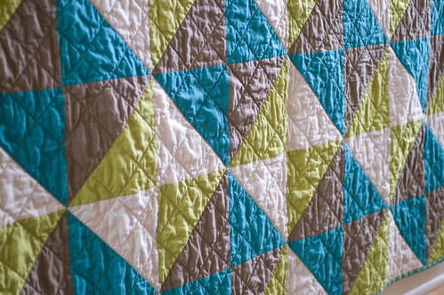 Triangles in a Square Quilt