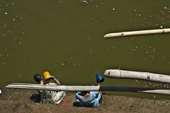 Ladies taking bath at Pushkar sarowar (Sapna Kapoor) Tags: india religion pushkar rajasthan sarowar