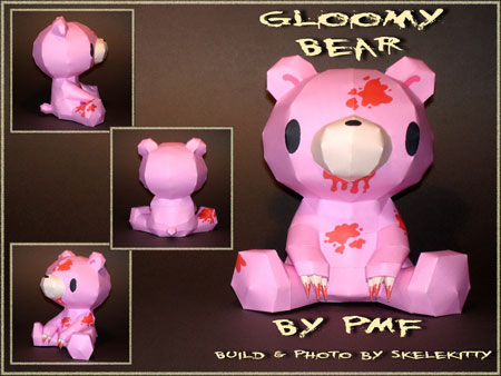 Gloomy Bear Papercraft 02