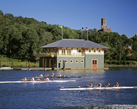 Shes at it again: Bette Midler is adding to her good works in the city, which already include this Robert A.M. Stern boathouse on the Bronx River.