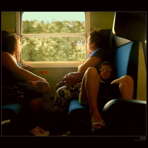 Back From The Beach By Train