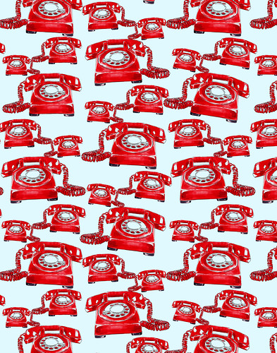red phone pattern